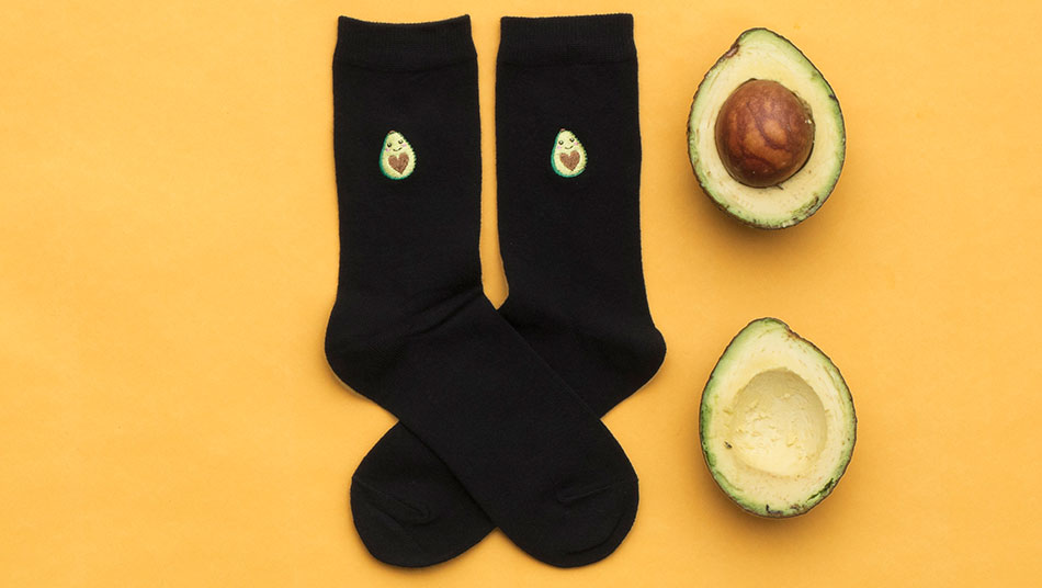 WildFeet Avocado Socks