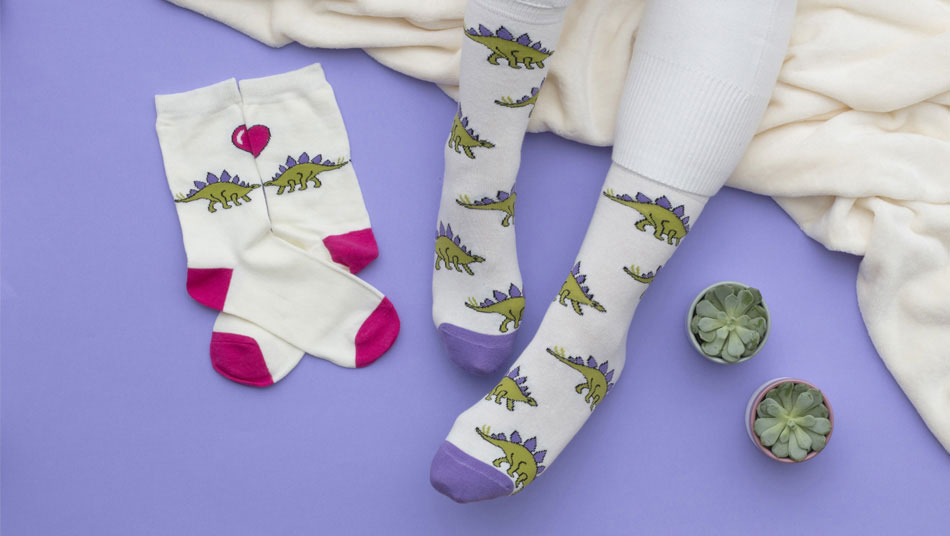 WildFeet Ladies's Dinosaur Socks