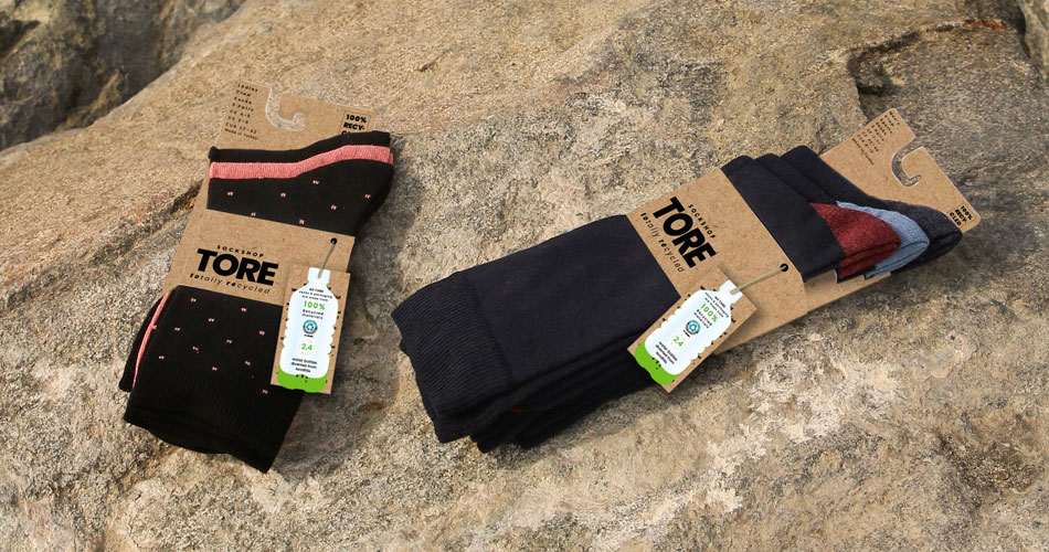 TORE socks packaging